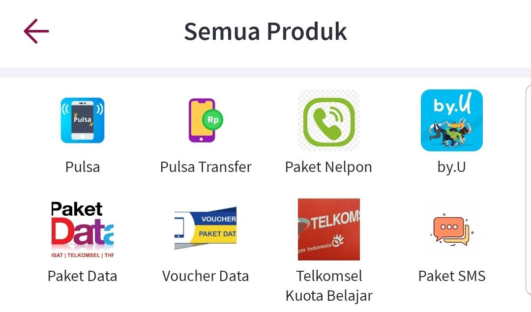 produk family pulsa